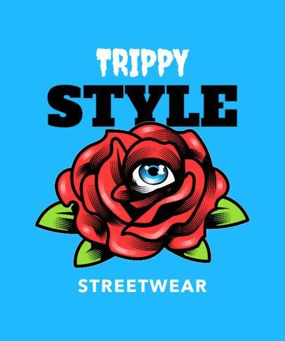 Streetwear T-Shirt Design Maker Featuring Trippy Illustrations 2138