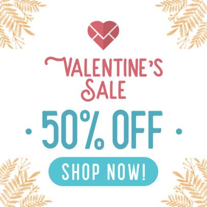 Online Banner Maker for Valentine's Day Sale 611-el1