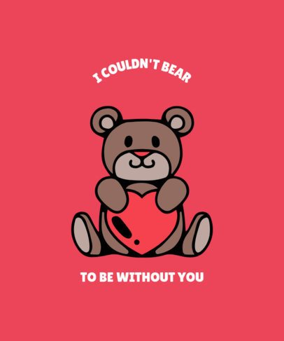 Valentine's Day T-Shirt Design Template with Funny and Sweet Illustrations 220-el1