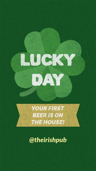 Instagram Story Template for an Irish Pub Celebrating Saint Patricks Day 2177