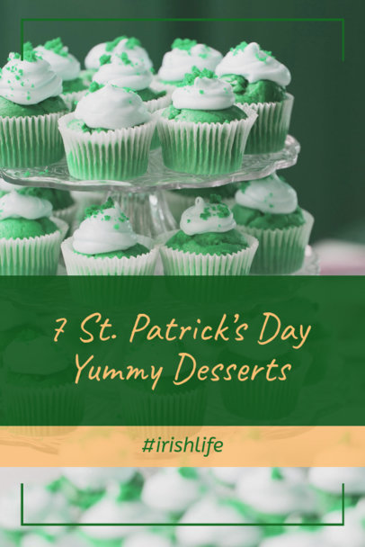 Pinterest Pin Maker for St Patricks Day Desserts 2183b