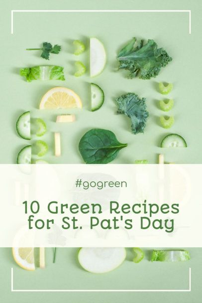 St Patricks Day Pinterest Pin Generator Featuring Healthy Recipes 2183f