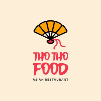 Asian Restaurant Logo Generator Featuring a Chinese Fan Clipart 599a-el1