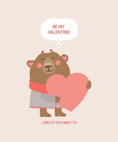 Valentine's Day T-Shirt Design Maker with Lovely Animal Illustrations 221-el1