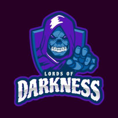 Creepy Logo Template for a Gaming Team 2620q-2881