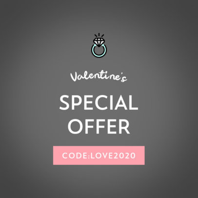 Valentine's Day Ad Banner Template for a Special Offer 612a-el1