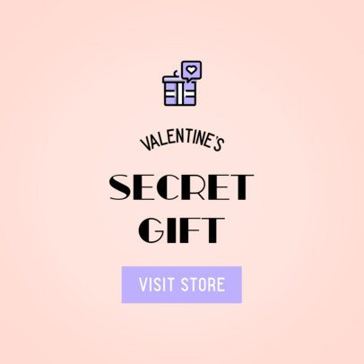Valentine's Day Ad Banner Maker with a Gift Clipart 612b-el1