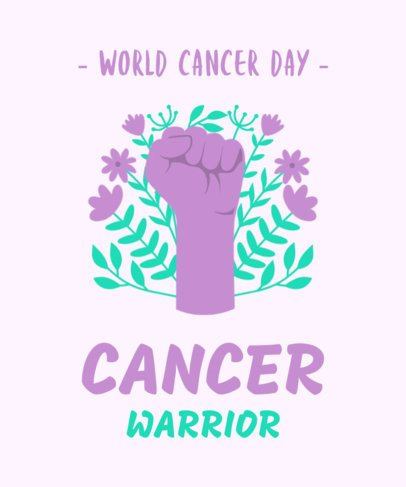 T-Shirt Design Creator for World Cancer Awareness Day 2166e