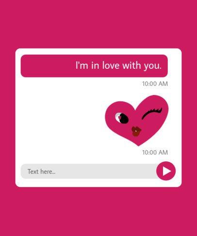T-Shirt Design Template Emulating Love Text Conversations 216-el1