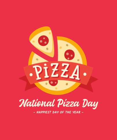 T-Shirt Design Template for a National Pizza Day 222-el1