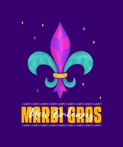 T-Shirt Design Maker Featuring Mardi Gras Royal Icons 2169d