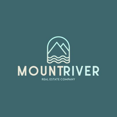 Real Estate Company Logo Maker with a Mountains Graphic 597b-el1