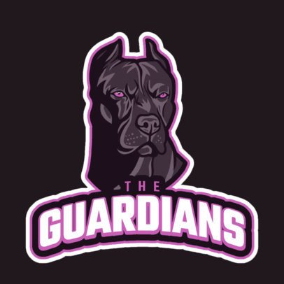 Sports Logo Template Featuring an Aggressive Guardian Dog 21hh-2892b
