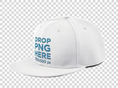 Side View of a Snapback Hat Mockup a11706