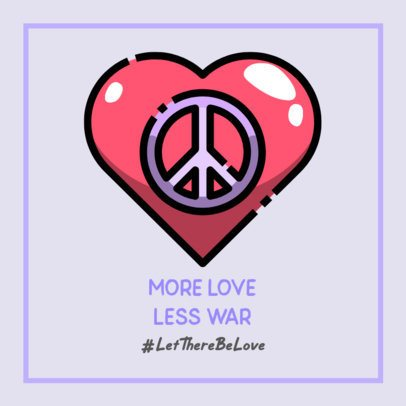 Peace-Themed Facebook Post Creator with a Heart Graphic and a Quote 593c-el1