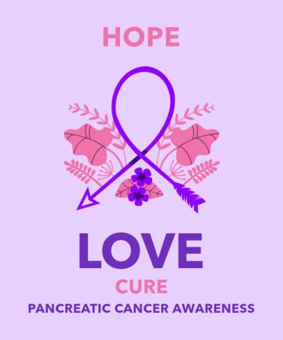 T-Shirt Design Maker for Pancreatic Cancer Awareness 2166c