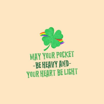 St Patricks Day Facebook Post Generator with a Lucky Four-Leaf Clover Graphic 2180a