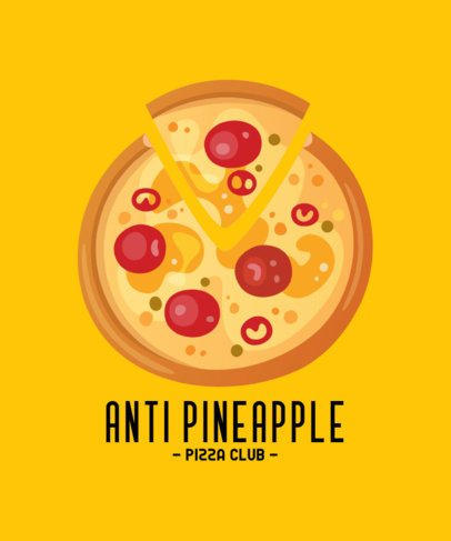 T-Shirt Design Maker for an Anti Pineapple Pizza Club 222a-el1