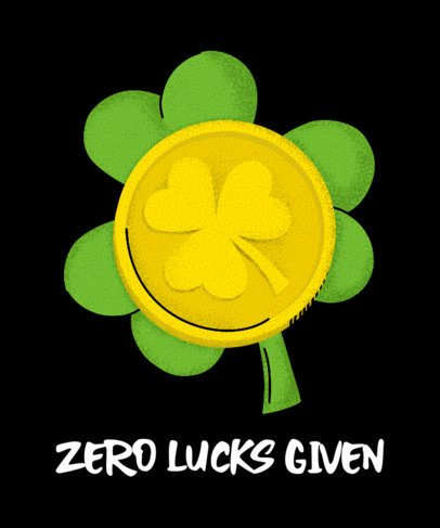 Funny T-Shirt Design Maker with a Lucky Clover Graphic 2167e