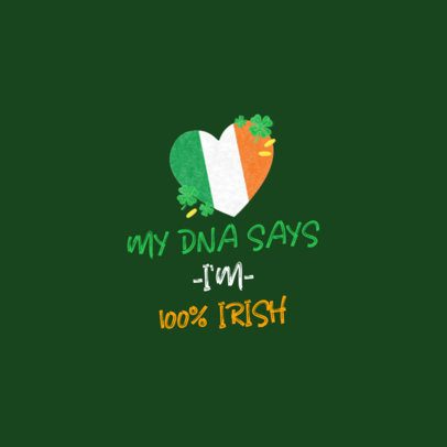 St Patricks Day Facebook Post Maker with an Irish Heart Graphic 2180d