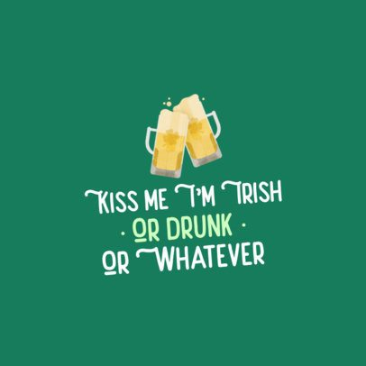 St Patricks Day Facebook Post Maker with Clinking Jars of Beer 2180b