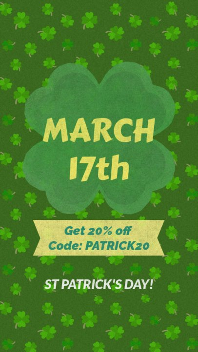 Instagram Story Maker for a Saint Patrick's Day Promo Announcement 2177a
