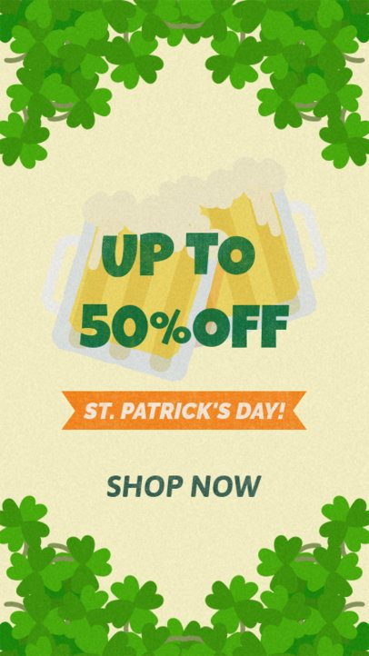 Instagram Story Maker for a Saint Patrick's Day Discount Announcement 2177c
