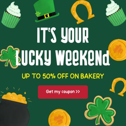 Instagram Post Maker for a Lucky Coupon for Saint Patrick's Day 628g-2179