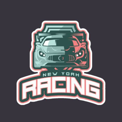 Gaming Logo Maker Featuring a Racing Car Illustration 523v-2891