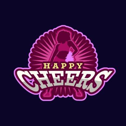 Online Logo Generator Featuring a Cheerleader Silhouette 336n-2883