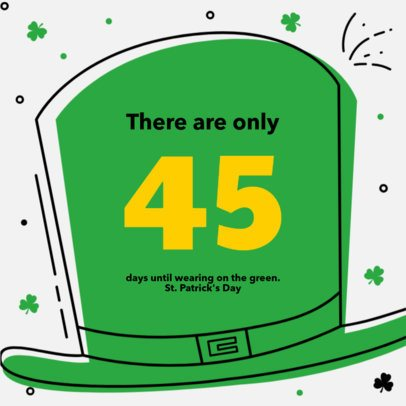 Instagram Post Maker for a Saint Patrick's Day Countdown 615g-2179