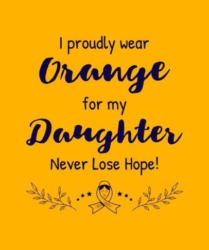T-Shirt Design Creator for Kidney Cancer Awareness Featuring an Inspiring Quote 2165b