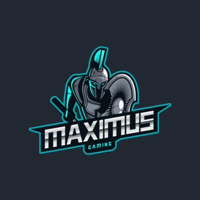 Gaming Logo Maker Featuring a Spartan Warrior Ready to Fight 2872g
