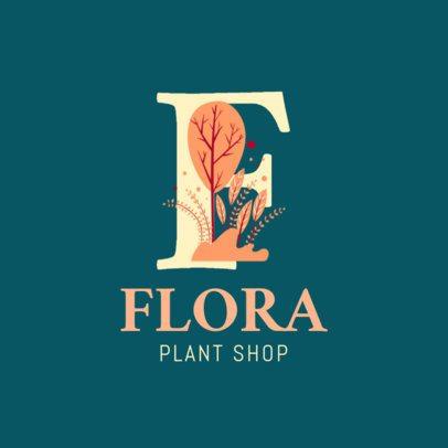 Plant Shop Logo Maker Featuring Botanical Alphabet Letters 2840c