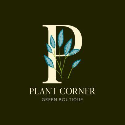 Plant Boutique Logo Generator Featuring Botanical Monograms 2840d