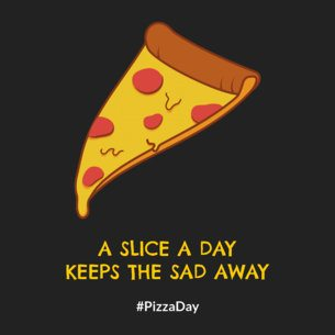 Pizza Day Facebook Post Maker Featuring Slice Illustrations 2210