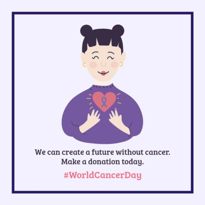 World Cancer Day-Commemorative Facebook Post Creator Encouraging Solidarity 2174c