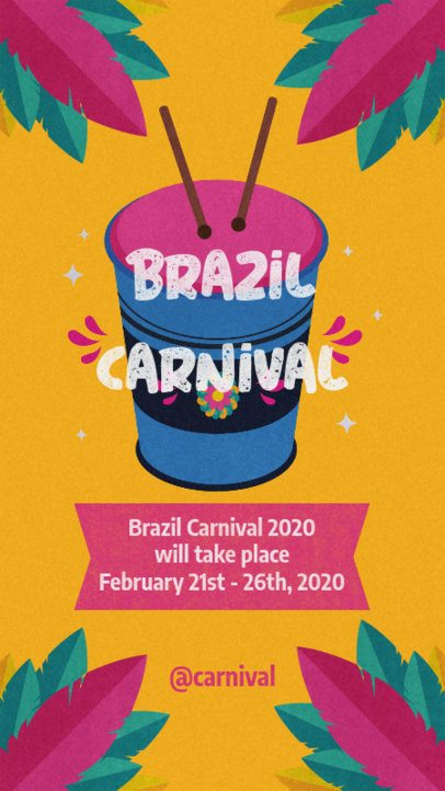 Rio Carnival Instagram Story Maker with Colorful Illustrations 2213