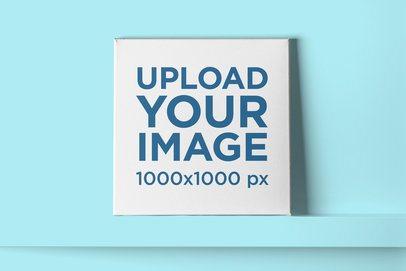 Mockup of Customizable Squared Canvas 2521-el1