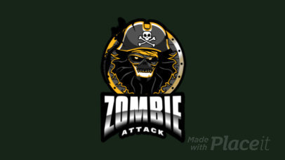 Animated Logo Maker with a Terrifying Zombie 2786z-2882