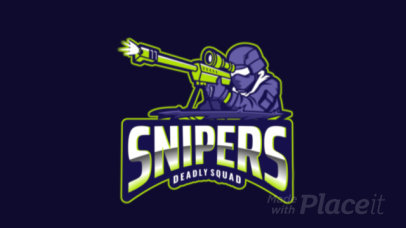 Animated Logo Generator for a Gaming Squad Featuring a Sniper Illustration 2734k-2889