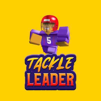 Roblox-Inspired Logo Maker with a Football Player Graphic 2878n