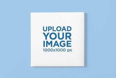 Canvas Mockup Featuring a Customizable Backdrop 2518-el1
