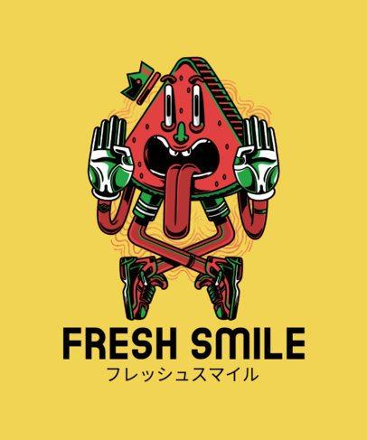T-Shirt Design Maker Featuring a Fresh Watermelon in an Urban Style 224a-el1