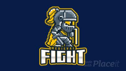 Animated Logo Maker for a Gaming Team Featuring an 8-bit Warrior Cartoon 1741g-2892