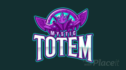 Animated Gaming Logo Maker Featuring an Illustrated Mystic Totem 2499mm-2888