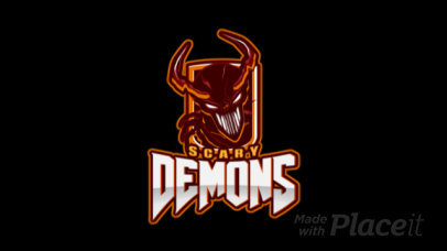Animated Logo Template for Gamers Featuring a Scary Demon Clipart 1877l-2883