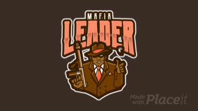 Animated Logo Template for Gamers Featuring a Mobster Illustration 1869t-2883