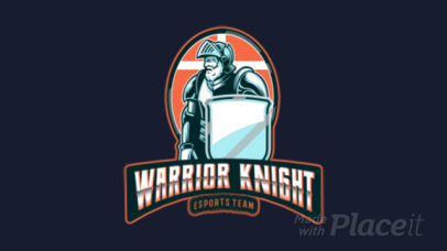 Animated Gaming Logo Maker Featuring a Bearded Knight Illustration 383ff-2883