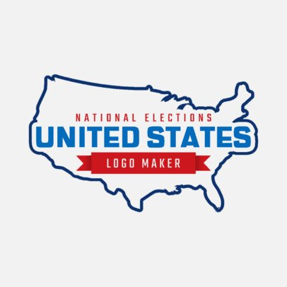 Patriotic Logo Maker Featuring an American Map Graphic 2868h
